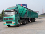 WANHUA 100tons Side Dump Trailer for Coal Transportation